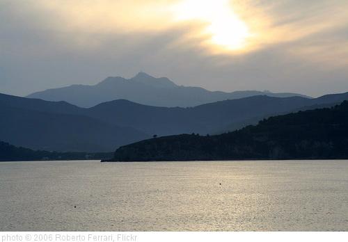 Tramonto sull'Elba, photo Roberto Ferrari